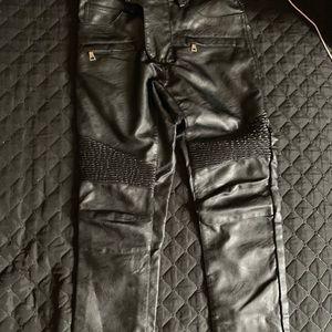 Balmain Leather Skinny Jeans